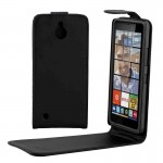 For Microsoft Lumia 850 Plain Texture Vertical Flip Leather Case Waist Bag with Magnetic Buckle(Black)