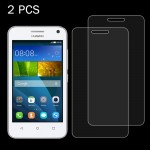 2 PCS Huawei Y3 0.26mm 9H Surface Hardness 2.5D Explosion-proof Tempered Glass Screen Film