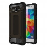 Coque renforcée Samsung Galaxy Grand-Prime / G530 Armure robuste TPU + Combinaison PC Noir - wewoo.fr