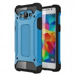 Coque renforcée Samsung Galaxy Grand-Prime / G530 Armure robuste TPU + Combinaison PC Case Bleu - wewoo.fr