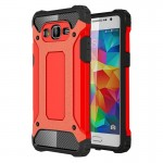 Coque renforcée rouge pour Samsung Galaxy Grand Prime / G530 Armure Tough TPU + PC - Wewoo