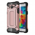 Coque renforcée or rose pour Samsung Galaxy Grand Prime / G530 Armure Tough TPU + PC - Wewoo