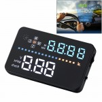 A3 3.5 inch Car GPS HUD / OBD Vehicle-mounted Gator Automotive Head Up Display Security System with Multi-color LED, Support Car