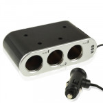 In Car USB & Triple Sockets with Switch for GPS / Mobile Phone / PDA
