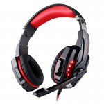 Casque PC rouge et noir USB 7.1 Surround Sound Version Jeu Gaming Headphone Ordinateur Écouteur Bandeau avec Microphone LED L...