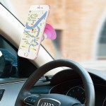 The Third Generation Universal Spin Car Air Vent Mount Phone Holder for Width of 5-6.5cm Smartphones(Pink)