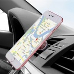 Universal Magnetic Car Air Vent Mount Phone Holder for iPhone 6 / 6s / 6 Plus / 6s Plus(Silver)