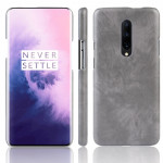 Shockproof Litchi Texture PC + PU Case for OnePlus 7 Pro(Gray)