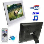 15.0 inch Digital Picture Frame with Remote Control Support SD / MMC / MS Card and USB , White (1502)(White)