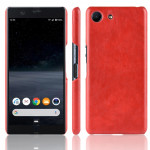 Shockproof Litchi Texture PC + PU Case For Sony Xperia ACE SO-02L(Red)
