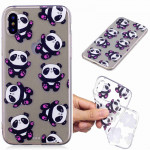 Painted TPU Protective Case For Galaxy S10 Plus(Hug Bear Pattern)