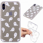 Painted TPU Protective Case For Galaxy S10 Plus(White Sea Lion Pattern)