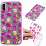Painted TPU Protective Case For Huawei P30(Strawberry Cake Pattern)