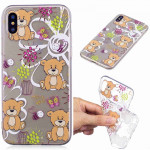 Painted TPU Protective Case For Huawei P30(Brown Bear Pattern)