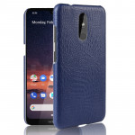 Shockproof Crocodile Texture PC + PU Case For Nokia 3.2(Blue)