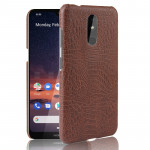 Shockproof Crocodile Texture PC + PU Case For Nokia 3.2(Brown)