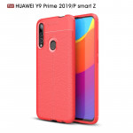 Litchi Texture TPU Shockproof Case for Huawei Y9 Prime 2019 / P smart Z(Red)