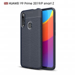 Litchi Texture TPU Shockproof Case for Huawei Y9 Prime 2019 / P smart Z(Navy Blue)