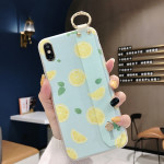 Lemon Pattern Wrist Strap TPU Case For iPhone XR(Lemon Pattern model B)