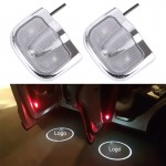 2 PCS LED Car Door Welcome Logo Car Brand Shadow Light Laser Projector Lamp for Renault(Silver)