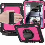 Shockproof Black Silica Gel + Colorful PC Protective Case for iPad Pro 11 inch (2018), with Holder & Shoulder Strap & Hand Strap