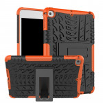 Tire Texture TPU+PC Shockproof Case for iPad Mini 2019, with Holder (Orange)