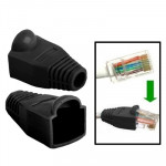 100 pcs Network Cable Boots Cap Cover for RJ45, Black