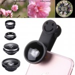 5 in 1 Universal 0.4X Super Wide Angle Lens + 235 Degrees Fisheye Lens & 19X Macro + Telephoto Lens 2X + CPL Lens + Smiling Face