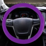 Crocodile Texture Universal Rubber Car Steering Wheel Cover Sets Four Seasons General (Purple)