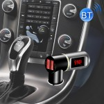 BC08 Dual USB Car Charger Bluetooth FM Transmitter Kit, Support LCD Display / Hands-free (Black)