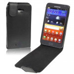 Leather Case for Samsung Galaxy Note / i9220 / N7000(Black)