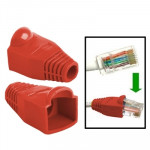 100 pcs Network Cable Boots Cap Cover for RJ45, Red