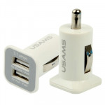 Chargeur Voiture iPhone Haute performance 2.1A + 1A double port de USB iPad Air 2 & 4, 6 et Plus 5C 5S 4 4S, iPod touch, Sams...