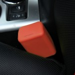 Safe Rubber Car Seat Belt Clips Locking Buckles Protective Cover(Orange)