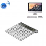 MC-55AG 2 in 1 Ultra-thin Bluetooth Numeric Keyboard Bluetooth 3.0 Calculator for Laptop Desktop PC Notebook(Silver)