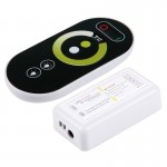 S102 Double Channels 6-keys RF Wireless LED Full Touch Controller with Wall Mount, DC 12-24V