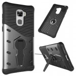 Letv Le Pro 3 Shock-Resistant 360 Degree Spin Sniper Hybrid Case TPU + PC Combination Case with Holder (Black)