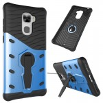Letv Le Pro 3 Shock-Resistant 360 Degree Spin Sniper Hybrid Case TPU + PC Combination Case with Holder (Blue)