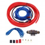 YH-4GA 1200W 4GA Car Copper Clad Aluminum Power Subwoofer Amplifier Audio Wire Cable Kit with 60Amp Fuse Holder