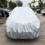 PVC Anti-Dust Sunproof SUV Car Cover with Warning Strips, Fits Cars up to 4.8m(187 Inches) In Length