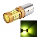 BA20D 10W 1000 LM Motorcycle Headlight with 28 SMD-3030 LED Lamps, DC 12V(Gold Light)