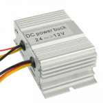 DC 24V to 12V Car Power Step-down Transformer, Rated Output Current: 10A