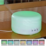 1000ML Timed Ultrasonic Aromatherapy Air Humidifier with 7-Colours LED Lights & Water Shortage Power Off Protection
