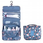 Multifunctional Hanging Style Flowers Pattern Travel Toiletry Pouch Wash Gargle Bag, Folding Size: 24.5 x 20.5 x 2.2cm