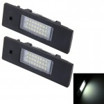 2 PCS License Plate Light with 24 SMD-3528 Lamps for BMW E87(White Light)