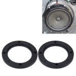 2 PCS 5 inch Car Auto ABS Loudspeaker Base Protection Hollow Cover Holder Mat, Inner Diameter: 12.5cm