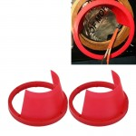 2 PCS 6.5 inch Car Auto Loudspeaker Plastic Waterproof Cover with Protective Cushion Pad, Inner Diameter: 14.5cm(Red)