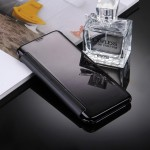 For Samsung Galaxy S8 / G9500 Electroplating Mirror Horizontal Flip Leather Case with Sleep / Wake-up Function(Black)