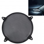 12 inch Car Auto Metal Mesh Black Round Hole Subwoofer Loudspeaker Protective Cover Mask Kit with Fixed Holder
