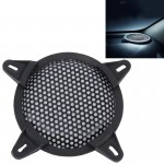 5 Inch Car Auto Metal Mesh Black Round Hole Subwoofer Loudspeaker Protective Cover Mask Kit with Fixed Holder